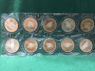 10- 1 oz Silver Rounds