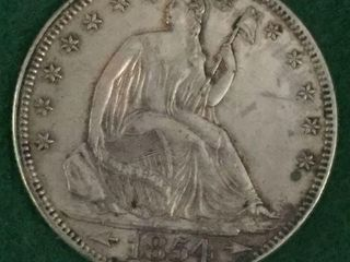 1854 Silver Seated Liberty