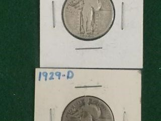 2- 1929-D Silver Standing Liberty