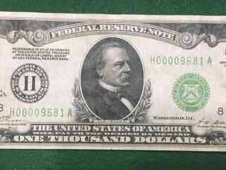 1928 $1000 Federal Reserve Note