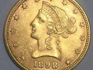 1898 Gold $10 Liberty