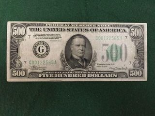 1934 $500 Federal Reserve Note