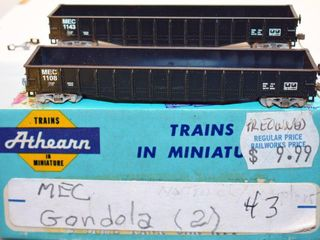 Maine Central 1143 & 1108 Gondola 2 Pack HO