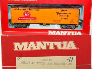 Atlantic & Pacific 23099 Wood Reefer Mantua HO