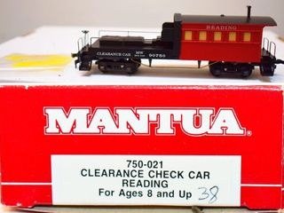 Reading 90750 Clearance Car Mantua HO