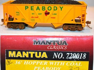 Peabody Short Line C671 Twin Hopper Mantua HO