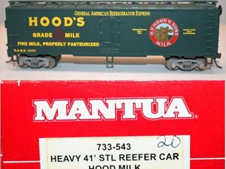 Hoods 6052 Milk Reefer Mantua HO