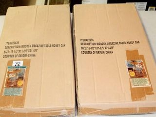 2   Wooden Magazine Tables New In Box