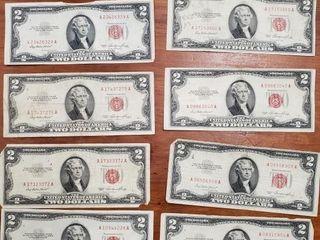 10 1953 SERIES RED SEAL $2 BILLS