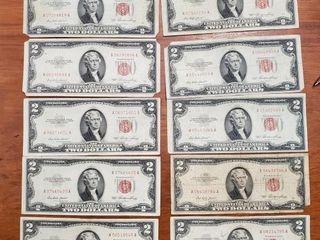 11 1953 RED SEAL $2 BILLS
