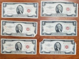 1953 RED SEAL SERIES $2 BILLS