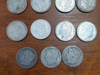 6 1921, 3, 1899, 1 1882, & 1 1900 MORGAN DOLLARS