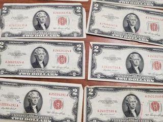 10 1953 RED SEAL $2 BILLS
