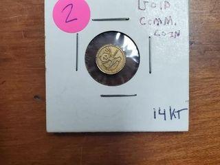 14K GOLD COMMEMORATIVE PANDA COIN