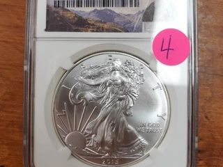 2015 SILVER EAGLE FIRST RELEASE MS 70
