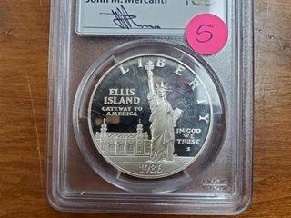1986 S STATUE OF LIBERTY ELLIS ISLAND DOLLAR