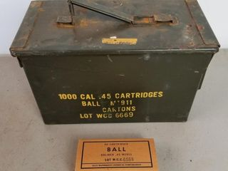 (1000RDS) .45Cal M1911 Ball Ammo W/Matching Box