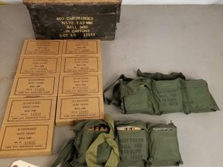 (300RDS) Nato 7.62mm Ball M80 Ammo W/Matching Box