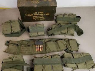 (384RDS)7.62mm Nato Ammo In 8rd Clip Bandoleers