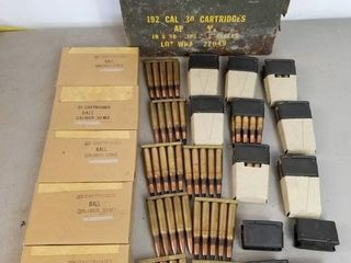 (204RDS) .30 Cal Ammo With 5rd And 8rd Clips