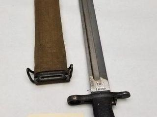 1907 Springfield U.S. Garand Bayonet With Scabbard