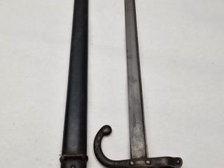 1875 French St Etienne Sabre Bayonet With Scabbard