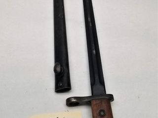 Unmarked Sword Bayonet With Scabbard