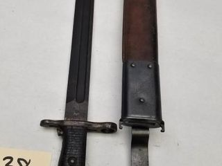 U.S. WW2 M1905 Bayonet SA 1918 Blade 1910 Scabbard