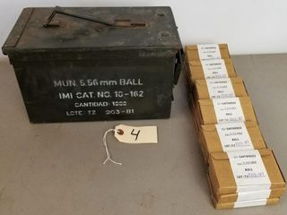 (1000RDS) 5.56mm Ball Ammo With Matching Box