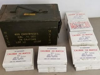 (340RDS) Cal .30 Match 173Gr Ammo With Box