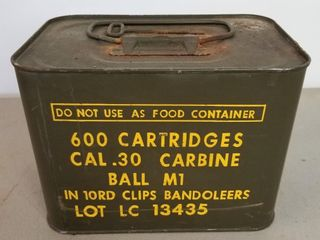 (600RDS) Cal .30 Carbine Ammo 10Rd Clip Bandoleers