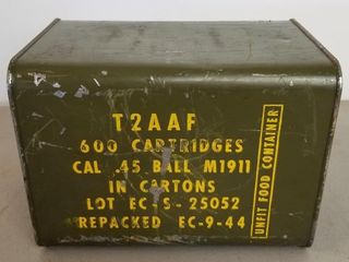 (600RDS) .45 Cal M1911 Ammo In Original Tin
