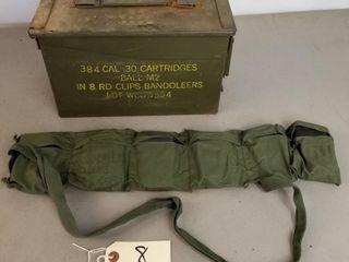 (384RDS) .30 Cal M2 Ball Ammo 8Rd Clip Bandoleers