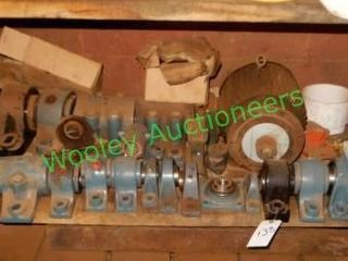 Lot of Sealed Bearings, Electric Motor, and Other