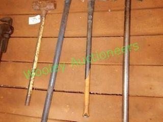 (3) Axes, (1) Sledge Hammer