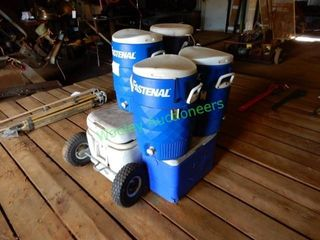 Custom Built Ice Chest with Wheels and (4) 5