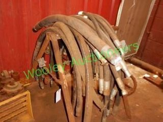 Metal Saw Horse, And Hydraulic Hoses In Group