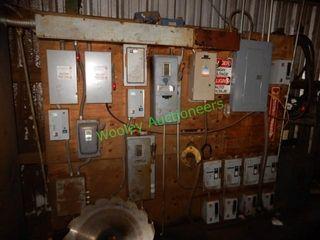 Assorted Breakers, Breaker Boxes & Electrical