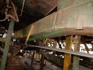 On-Site Built 45? +/- Belt Conveyor from Bandsaw