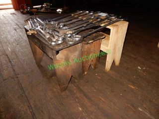 3 Wooden Stools in Group (Does Not Include