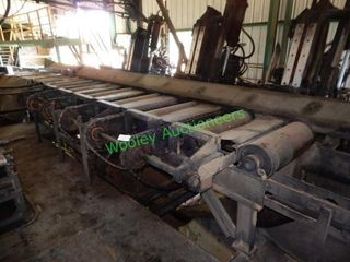 Crosby 30? Infeed to Gang Saw Live Roller Bed