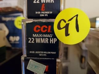 COLLECTION OF CCI 22 WMR