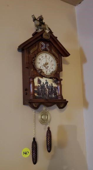 CONFEDERATE WALL CLOCK
