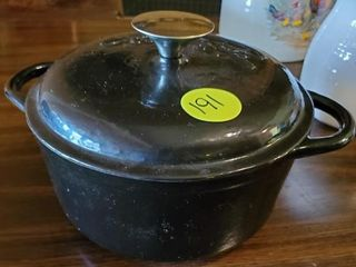 BLACK EMERIL POT WITH LID