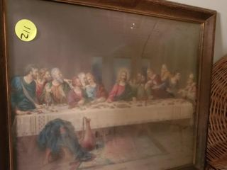 FRAMED LORD'S SUPPER PICTURE