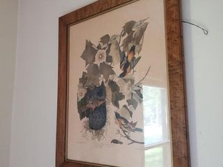 WOOD FRAME BIRD PICTURE
