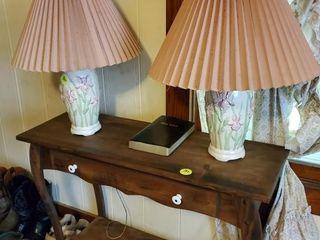 PAIR OF IRIS LAMPS