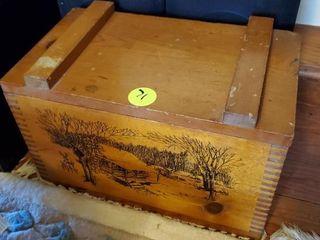 WOOD CABIN SCENE AMMO BOX