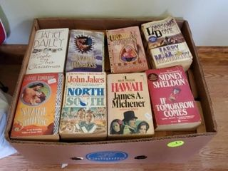 BOX OF PAPERBACK BOOKS - LONESOME DOVE