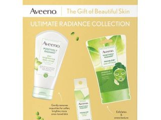 Aveeno Ultimate Radiance Collection Skincare Gift Set With Brightening Daily